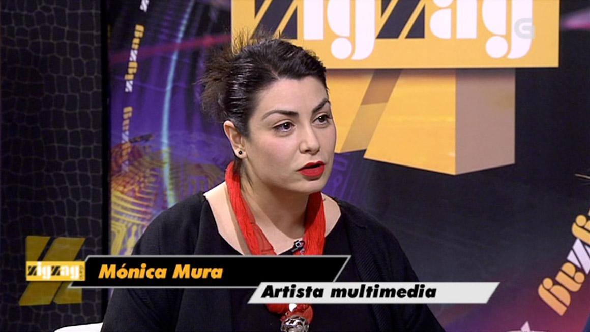 Entrevista a Monica Mura de Pilar García Rego para el programa cultural ZigZag TVG. Extracto ZIGZAG DIARIO - programa 978 del 23 de Enero de 2015 - TVG, Televisión de Galicia