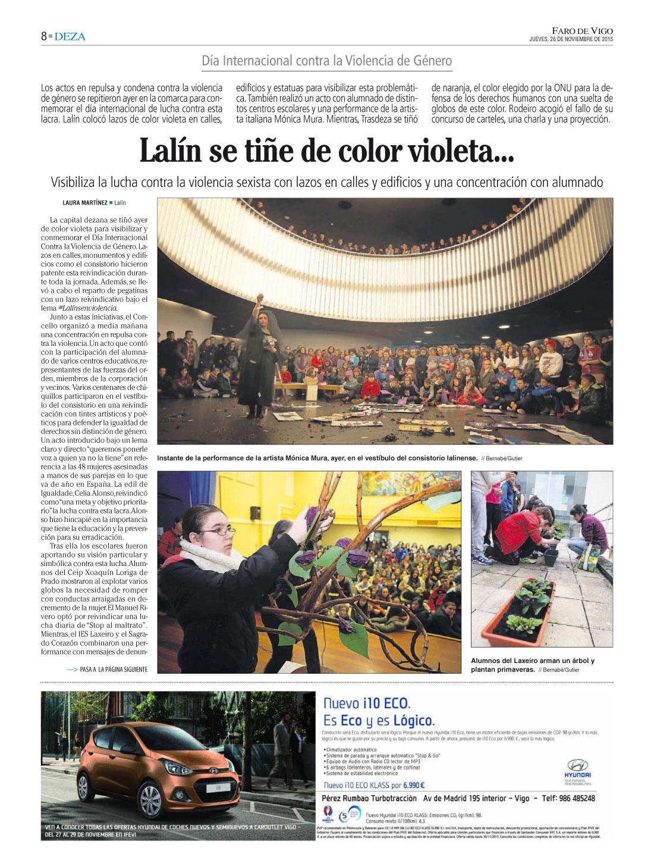 Faro De Vigo 25N Mulleres en Acción ViolenciaZero - 26 Noviembre 2015