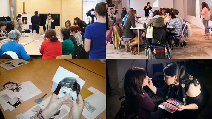 Talleres Creativos dirigido por Monica Mura dentro del programa Nós + Otras en Red. Museo Thyssen-Bornemisza + Museo Provincial de Lugo.
